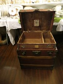 C.A. Taylor Flat Top Steamer Trunk, Sample Trunk