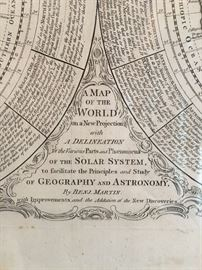 Benjamin Martin Double Hemisphere Map
