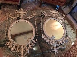 Fabulous pair of antique French Girandole Mirrors.