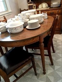 This Sweet Sylvania Bungalow Is Packed With Treasures!...You Will NOT Be disappointed! OK...Let's Start With some furniture...Like This Super Nice Dining set With 2 Leaves and 6 chairs!...