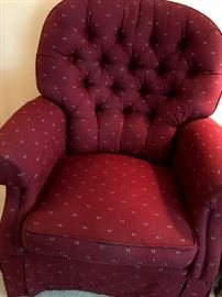 We Also Have TWO Of These Adorable, and Comfy, Swivel Arm Chairs!...