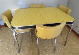Retro Mid Century Table & Matching Chairs
