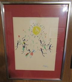 Pablo Picasso Lithograph Dated 2-7-50