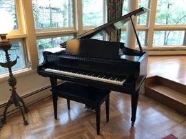 Baby Grand Piano in ebony black
