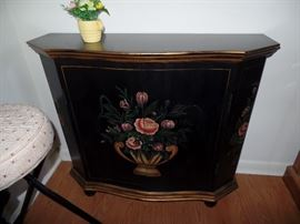 Floral painted cabinet