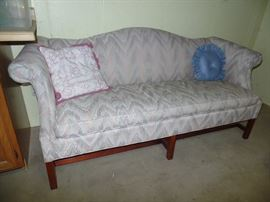 1 of 2 matching- Sheraton style-Camel Back couches