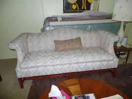 1 of 2 matching-Sheraton style, Camel Back couches