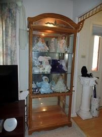 1 of 2 matching lighted display cabinets