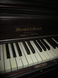 Marshall & Wendell upright piano with ivory keys vg condition