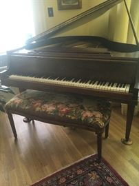 Stroud antique piano - bench not included or for sale