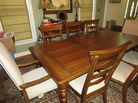 DINING ROOM TABLE, 8 CHAIRS AND BUFFET AVAILABLE FOR EARLY SALE.  $600.  VERY NICE.  THIS IS BEAUTIFUL FURNITURE.  919-417-1950.