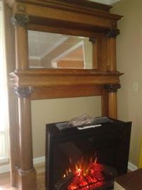 Antique fireplace mantle