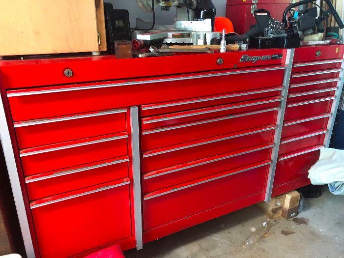 Snap On three bank tool box