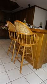 Bar Chairs - solid wood bar height