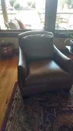 Lee leather side chairs