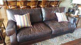 Stafford leather sofa.