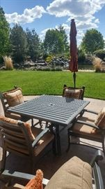 Very high end patio set and other patio furniture.