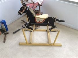 Vintage Black Beauty hobby horse