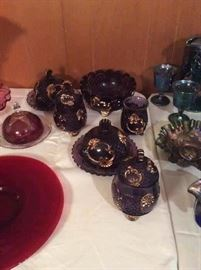 Beautiful Antique (1800's) Riverside Croesus Amethyst and Gold