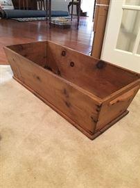 Solid pine dough box $50