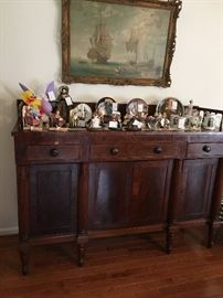 Antique mahogany sideboard w/ key $500