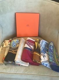 Hermes scarves-a-go-go. You know, the rich dahkta's wives love to be pampered...