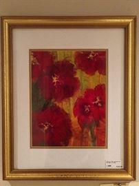 "Original artist signed watercolor ""Camelia"", by Berkely Lake (Atlanta) artist, D. B. Love."
