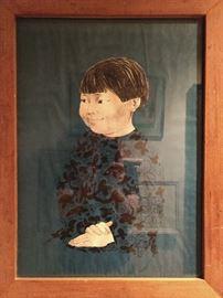 Original oil/charcoal on paper, by Venturelli (Chili).