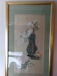 Another artist signed, original piece, nicely framed/matted.