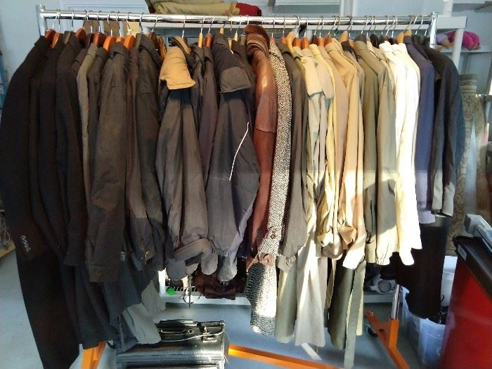 Outerwear from cashmere topcoats, leather, wool, nylon, you name it, it's here.