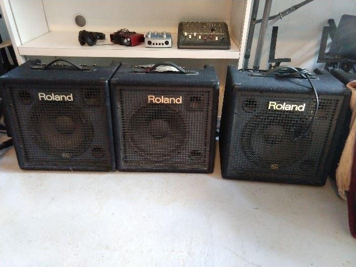 Lot's o' musical equipment.