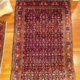 Vintage Persian hand woven Lilihan Sarouk rug, 100% Wool Face, Measures 3-6 x 8.