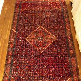 Vintage Persian hand woven Lilihan Sarouk gallery runner, 100% Wool Face, Measures 5-4 x 10-1.