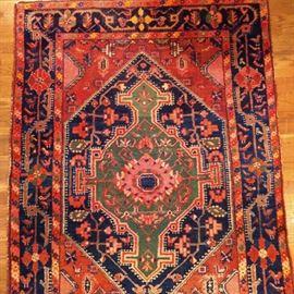 """Beautiful Tribal Tuserkan (Hamadan) rug, hand woven, 100% wool face, measures 4' 2"""" x 6'."""
