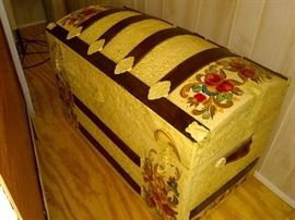 Antique trunk-nicely restored inside and out.