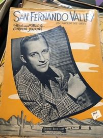 EPHEMERA and old sheet music including BING CROSBY!