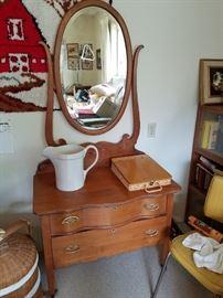 This is 'darling' - Vintage Vanity Dresser with Mirror