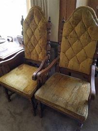Vintage 70's Velvet Chairs
