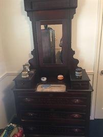 Victorian Eastlake marble topped dresser