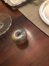 Orient & plume apple paperweights