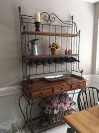Awesome Bakers Rack with Wine Bottle Holders