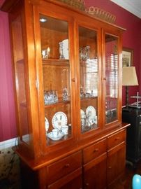 "Thomasville china cabinet  Height 61""  Width 56"" Deep 18"""