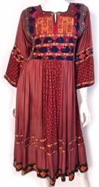 Afghani 1970s Peasant Dress