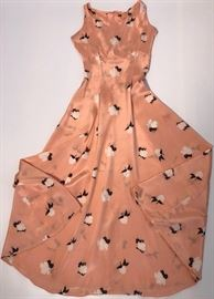 1930s Beau Monde Silk dress made for Marshall Fields