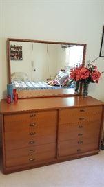 Drexel solid mahogany (light finish) mid century dresser