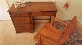 Oak banker's chair
