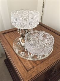Beautiful  Hollywood Regency crystal.
