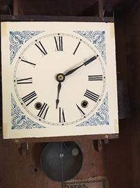 Lynchburg clock, paper face