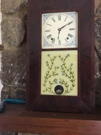 Historic Lynchburg made clock  - made or marketed by Alanson Winston, a Lynchburg, VA furniture & clock maker, circa 1840's