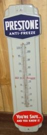 "36"" Porcelain Prestone Anti-Freeze Thermometer"